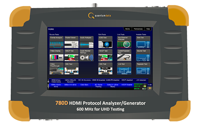 New 780D HDMI Test Instrument Supports HDMI 600MHz And HDCP 2.2 Testing